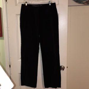 Black Nautical Velvet Pants Size 10